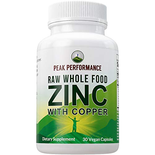 Raw Whole Food Zinc with Copper + 25 Organic Vegetables and Fruit Blend for Max Absorption. Immune Support Supplement Capsules. Two Essential Minerals for Immunity Support . Vitamin Pills, Tablets