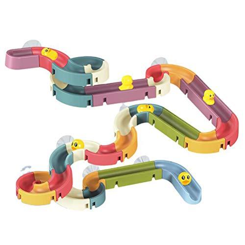 YsaAsaa Badewannen-Spielzeug, Wasserspuren, Rohre, Spiel, Konstruktion, Badewannenspielzeug für Kleinkinder, Jungen und Mädchen