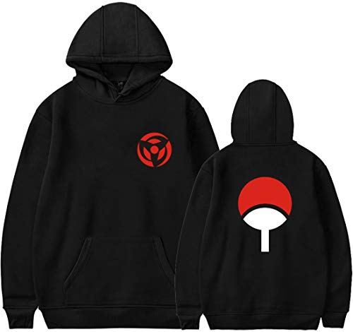 EmilyLe Men's Naruto Hoodie Uchiha Family Japanese Anime Geeky Jumper for Women Boys and Girls