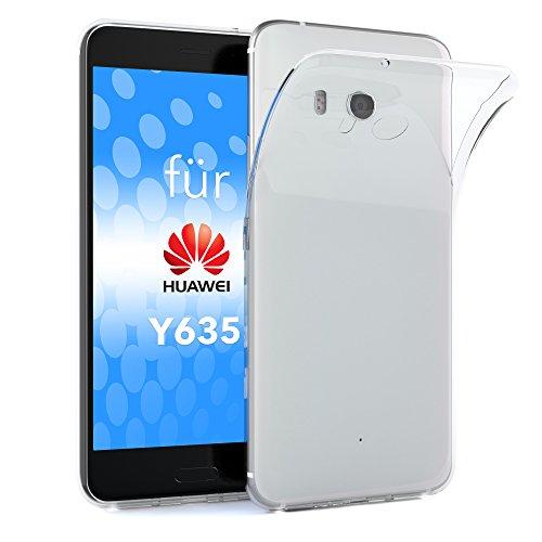 EAZY CASE Hülle kompatibel mit Huawei Y635 Schutzhülle Silikon, Ultra dünn, Slimcover, Handyhülle, Silikonhülle, Backcover, Durchsichtig, Klar Transparent