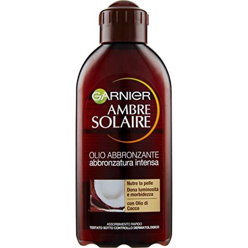 Garnier Ambre Solaire Olio abbronzante, Per un'abbronzatura intensa, 200 ml
