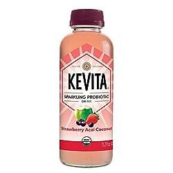 KeVita Sparkling Probiotic Drink, Strawberry Acai Coconut, 15.2 oz.