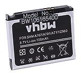 vhbw Akku passend für Samsung SGH-A171, SGH-A707, SGH-A717, SGH-A727, SGH-U700, SGH-U700V Handy Smartphone Handy (700mAh, 3.7V, Li-Ion)
