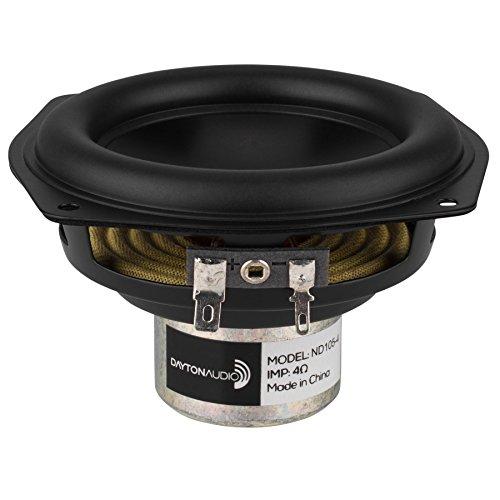 "Dayton Audio ND105-4 4"" Aluminum Cone Midbass Neo Driver 4 Ohm"