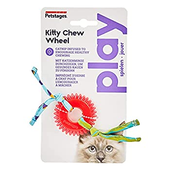 Petstages Anneau pour chat Kitty Chew Wheel - herbe à chat/hygiène dentaire