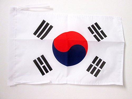 AZ FLAG Flagge SÜDKOREA 45x30cm mit Kordel - KOREANISCHE Fahne 30 x 45 cm - flaggen Top Qualität