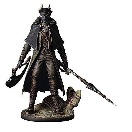 QYF Blut übertragene: Hunter Action Figure - Bloodborne The Old Hunters Hunter Statue PVC Figure - sehr detaillierte Accurate Sculpt -Kind Erwachsene Geburtstags-Geschenk-Ansammlung, Hoch 12 Zoll