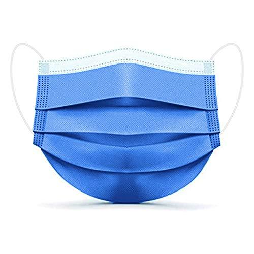 SALUCIA 50 Stück Einmal-Mundschutz, Staubs-chutz Atmungsaktive Drucken Mundbedeckung, Erwachsene, Bandana Face-Mouth Cover Winter (D1, 50 STK)