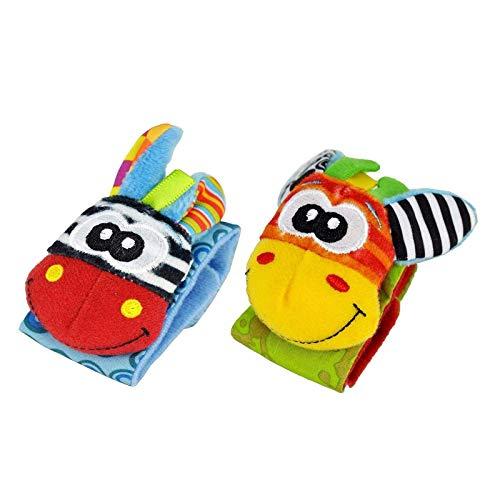 Guillala Baby Rasseln Spielzeug Unisex Developmental Spielzeug Armbänder für Neugeborene