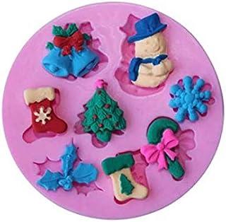 S.Han Silicone Christmas Fondant Mould Cupcake Cake Decoration Mold Baking Tool Resin