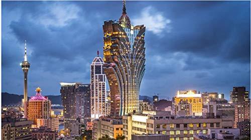Rompecabezas de 1000 piezas Macau Grand Lisboa Hotel Regalo Juguete educativo para niños y adultos