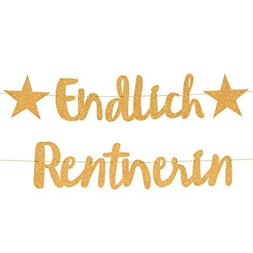 Compagno ENDLICH Rentnerin Girlande goldene Ruhestand Party Rente Abschiedsfeier Pensionionärin Seniorin fest