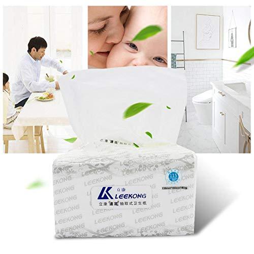 460 stuks/verpakking toiletpapier 4 lagen zacht, sterk papierweefsel Home Kitchen toiletweefsel, zachte, sterke en sterke absorberende handdoeken voor dagelijks gebruik in toiletten