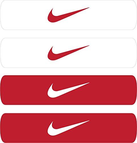 Nike Home and Away Dri-Fit Bands, Herren, 9.307.001.601, rot/weiß, Einheitsgröße