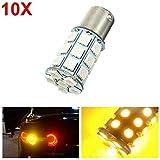 Yuquanxin 10pcs 2 1W 5050 27SMD LED Lámpara de la luz de la señal de la señal de Giro del Coche Amarillo de la Bombilla inversa 12V Durable