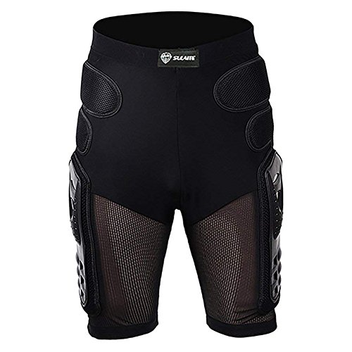 Protective Armor Pants Hockey Knight Gear for Motorcycle Motocross Racing Ski Protect Pads Sports Hips Legs Black