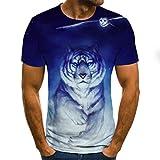 Camiseta de hombre con estampado animal, camiseta 3D de otoño de...