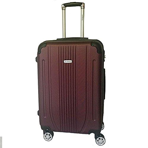 スーツケース 軽量 ファスナー TSAロック搭載 大型 中型 小型 機内持込み flower fairy (小型、S, バーガンディー)