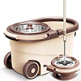 Best Spin Mops - Pritam Mall Spin mop with Bucket, Stainless Steel Review