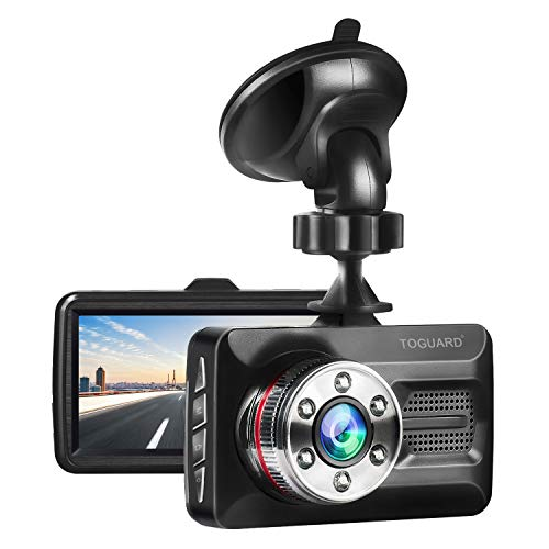 "TOGUARD Dash Cam 1080P FHD Car Camera Dash Camera for Cars with Super Night Vision, 3"" Screen 170°Wide Angle, Parking Monitor, G-Sensor, Loop Recording, Motion Detection"