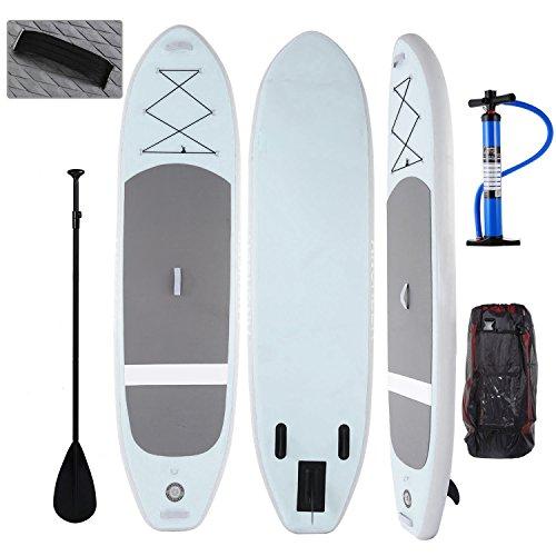 Profun Tabla Hinchable Paddle Surf Tabla de Surf Sup Set Stand Up Paddle Surf Board de 305CM*81CM*15CM con Paddle Ajustable+Bomba de Aire+Remo+Mochila (Tipo4 Verde) ⭐