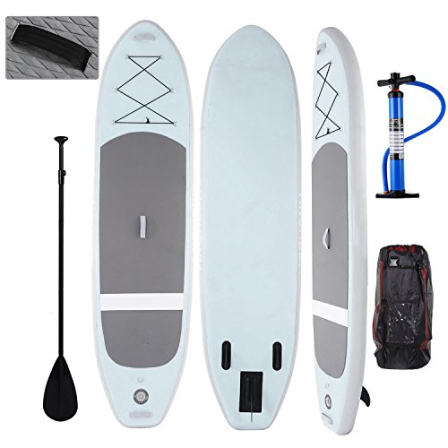 Profun Tabla Hinchable Paddle Surf Tabla de Surf Sup Set Stand Up Paddle Surf Board de 305CM*81CM*15CM con Paddle Ajustable+Bomba de Aire+Remo+Mochila (Tipo4 Verde)
