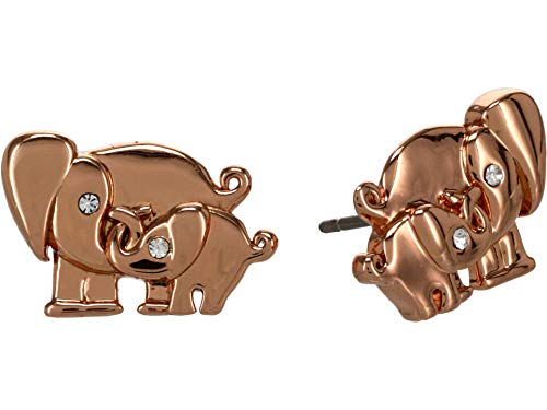 Kate Spade New York Elephant Studs Earrings - Boxed Clear/Rose One Size