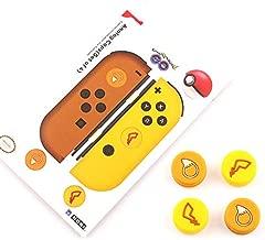 Silicone Non-Slip Cap Case Thumb Grips Cover Analog Thumb Stick Joystick Button Cap Handle Button Caps for Nintendo Switch Joy-con (4PCS Joystick Cap)