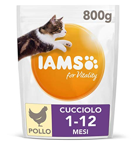 IAMS for Vitality Cibo Secco con Pollo Fresco specifico per Gattini, 800 g
