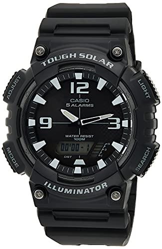 Casio Men's Tough (Solar Powered) Japanese-Quartz Watch with Resin Strap, Black, 28 (Model: AQ-S810W-1AVDF)