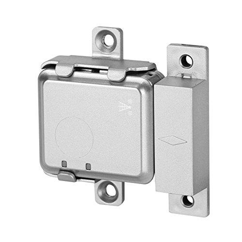 Nannday Drahtloser intelligenter Türalarm, Mini drahtloser intelligenter GSM Türalarm in Echtzeit, magnetisches LBS Ortungssystem für das Haussicherheitssystem