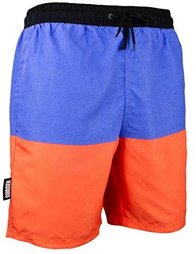 GUGGEN Mountain Badehose für Herren Schnelltrocknende Badeshorts Beachshorts Boardshorts Schwimmhose Männer Farbe Gestreift M