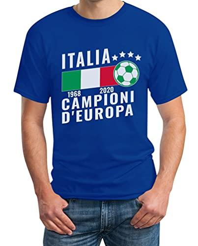 Shirtgeil Italia Calcio Campioni D'Europa 2020 2021 Maglietta da Uomo...