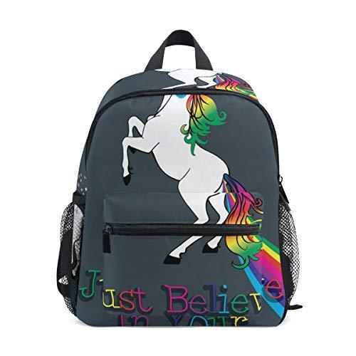 Toddler Kinderrucksack Dream Rainbow Unicorn Preschool Kinderrucksack Travel Bag for 3-8 Years Baby Girl Boy