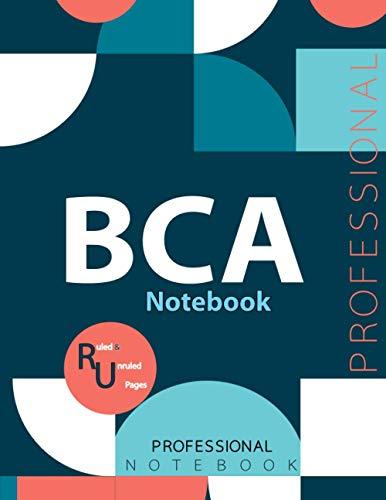 "BCA Notebook, Examination Preparation Notebook, Study writing notebook, Office writing notebook, 140 pages, 8.5"" x 11"", Glossy cover"
