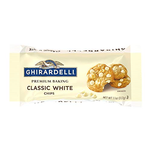 Ghirardelli Classic White Chocolate Premium Baking Chips - 11 oz. (312g), Pack of 6