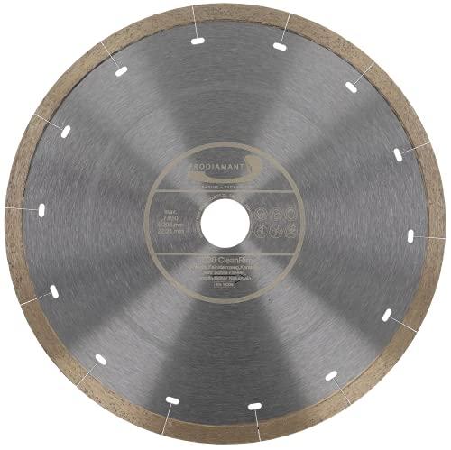 PRODIAMANT FD30 CleanRim - Disco de diamante para azulejos (200 mm, para gres porcelánico, tamaño grande, piedra natural, mármol, pizarra y granito)