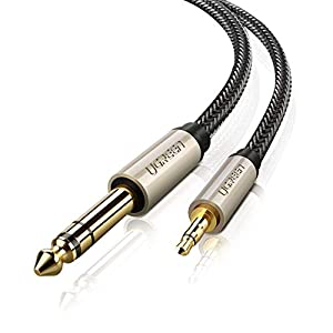 Ordenadores- 2M Cable de 6.35mm a 3.5mm Mesas de Mezclas Amplificadores PCs BOZHAN Nylon Trenzado 3.5mm a 6.3mm Cable Audio Est/éreo HiFi Macho a Macho para Reproductores de MP3