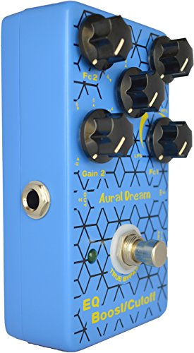 Aural Dream EQ Boost Cut-off Digital Guitar Pedal with Parameter EQ,Shelf filter and Peak filter including Boost and cutoff function,True Bypass