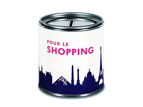 44spaces Spardose Paris Pour le Shopping Geldgeschenke - Witzige Geschenkdose Geld Scheine Schenken Geldgutschein Geld-Verpackung Trinkgeld Urlaubgeld Hochzeitsgeschenk