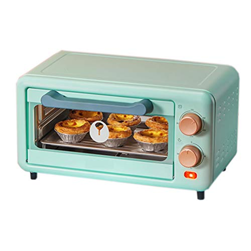 11L Mini Oven, 800W Multi-Function Simple Operation, Toaster Oven, Mini Smart Oven Durable Glass Door 30 Minutes Timer, Countertop Oven