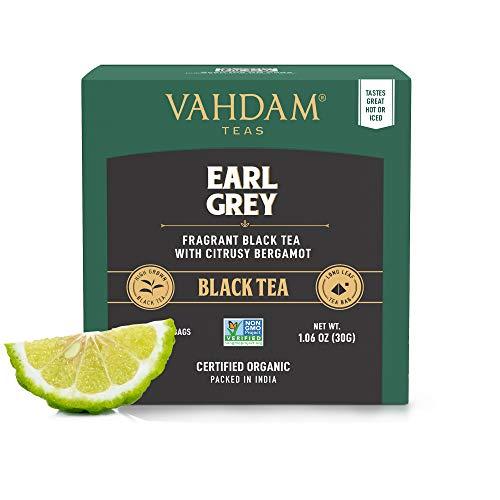 Earl Grey Citrus, 15 Tea Bags (2er-Pack), 100% NATURAL, Long Leaf Pyramid Earl Grey Teebeutel, aromatisch & köstlich, schwarzer Tee, gemischt mit natürlichem Bergamottenöl,