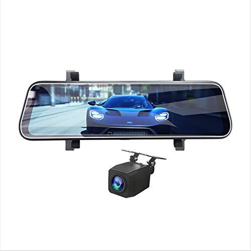 FANHE 4K Streaming Media-Spiegel-Fahrenrecorder, vorne und hinten Dual-Optik HD 10-Zoll-Schirm-1080P Umkehren Bild