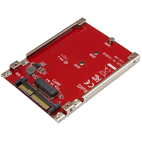 StarTech.com M.2 auf U.2 Adapter - für 1x M.2 NVMe SSD - U.2 (SFF-8639) Host Interface - SSD M.2 - NVME M.2 SSD - M.2 PCIe SSD - M.2 Drive