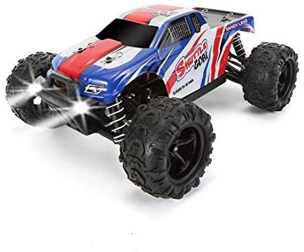 FUNTECH 1/18 Scale Remote Control Car High-Speed Electric RC Cars 2.4 GHz Radio Fast 35+ KMH 4x4 Off-Road Remote Control Trucks, Terrain RC Trucks, Great RC Car for Beginners