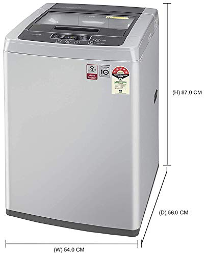 LG 6.5 Kg 5 Star Smart Inverter Fully-Automatic Top Loading Washing Machine (T65SKSF4Z, Middle Free Silver) 2