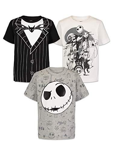 Disney Nightmare Before Christmas Jack Skellington Little Boys 3 Pack T-Shirt Black 7