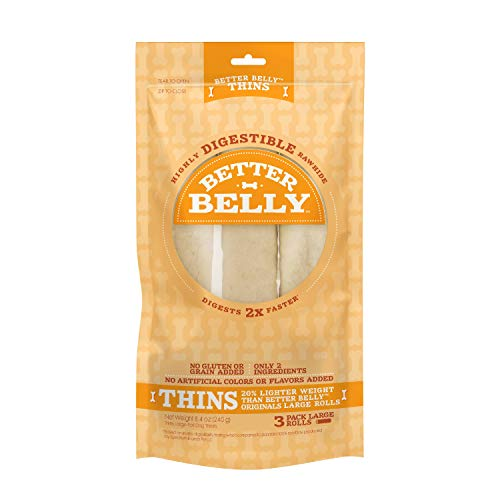 Better Belly Thins Large Rolls, Dog Chews, 3 Count
