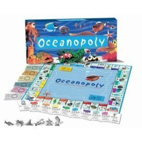 Back to Nature Oceanopoly Reef Fish Ocean Animal Monopoly-Brettspiel