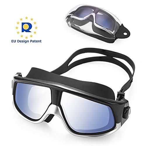KATELUO Gafas de Natación,Protección UV Antiniebla Gafas de nado Impermeable y Vista Clara Gafas para Nadar,Unisex Adulto,Niños 12 años+ (Negro)